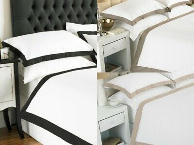 Great Knot Duvet Cover Set Coloured Border Egyptian Cotton Victorian Bed Linen