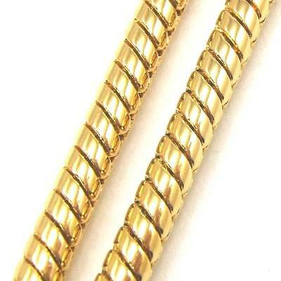 """3pcs Wholesale 24""""3mm37g REAL CLASSIC 18K YELLOW GOLD GP NECKLACE SOLID FILL GEP"""