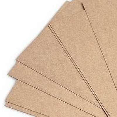 8 A4 Sheets of Brown Buff Natural Coloured Double Sided Kraft Card New