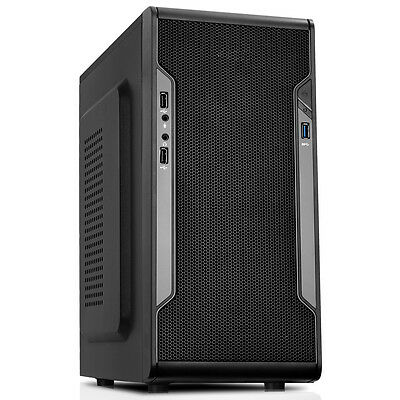 CiT Barricade Mesh Micro-ATX PC Gaming Case USB3 Black Interior Mesh Front