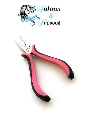 Pink Mini Hair Extension Pliers for Micro Rings, Loops, Nano Rings, Feathers etc