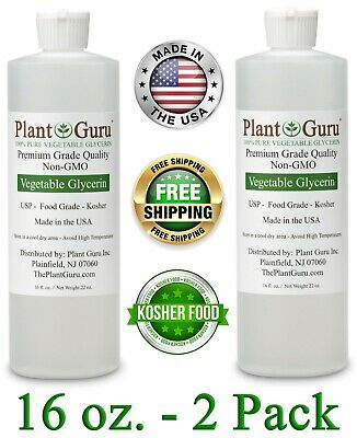 VEGETABLE GLYCERIN FOOD GRADE USP NON-GMO PURE LIQUID OIL PG VG 16 oz.