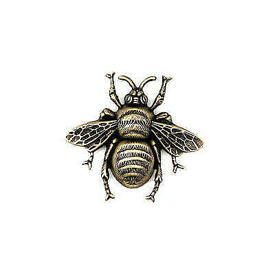 Large Oxidized Brass Bee Stamping  (1) - BOFFA8986 Jewelry Finding