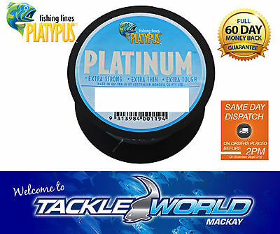 PLATYPUS Platinum Monofilament Fishing Line 300m TACKLE WORLD