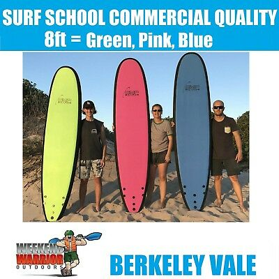 8ft SOFTBOARD PACKAGE with Legrope Foam Surboard Learn to Surf PINK RED BLUE
