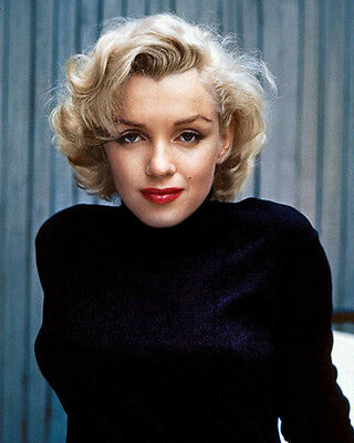 Marilyn Monroe Sultry Colour Pose 10x8 Photo