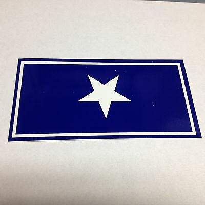 "5 3/4"" X 3"" BONNIE BLUE FLAG BUMPER STICKER NEW"