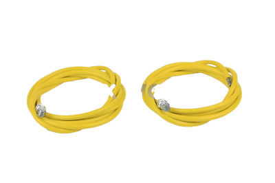 Old School BMX 1 Pair = 2 Cables BMX Brake Cables Yellow 1.6mm x 1500mm
