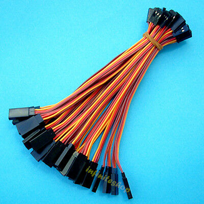 50 Pcs 15cm Servo Extension Lead Wire Cable 22awg wire For Futaba
