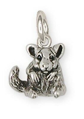 Silver Chinchilla Pendant Jewelry - cl13p