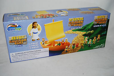JESUS GALILEAN BOAT PLAYSET Bible Toys Disciples Figures Christian