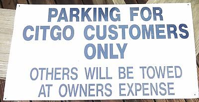 Vintage Citgo customer parking sign - 1970's