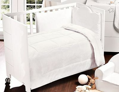 Luxuury Poly Cotton Cot Bed Duvet/quilt 4.5/7.5/9.0 Togs 100X120 White