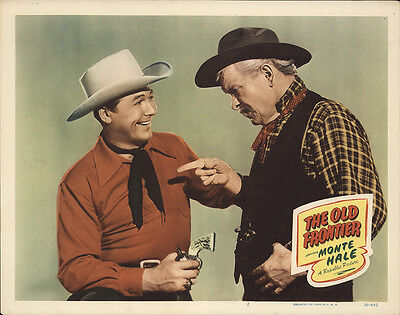 The Old Frontier 1950 Original Movie Poster Western
