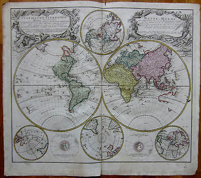 Homann: Large Map of the World  - 1746