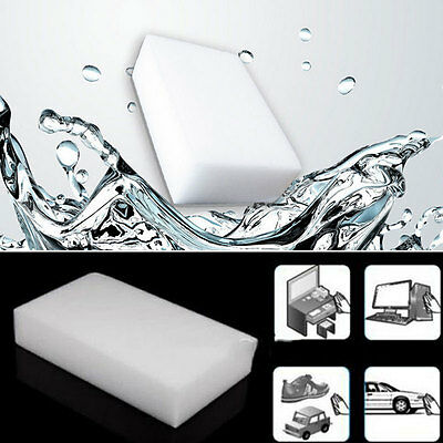 10PCS Cleaning Magic Sponge Eraser Melamine Cleaner Multi-functional Foam White