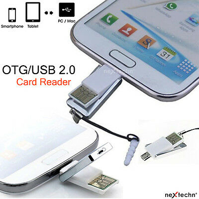 5 Pin Micro USB/OTG Adapter Micro SD TF Card Reader For Android Phone PC Laptop