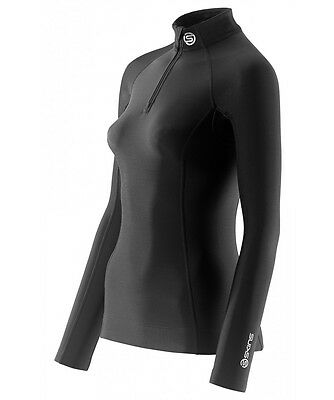 SKINS | A200 Women's Thermal Compression Long Sleeve Top | Black | Save $$$