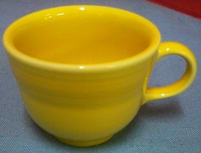 Fiesta Dinnerware 2 Flat Coffee Cups 1 Red 1 Yellow Homer Laughlin Made in USA