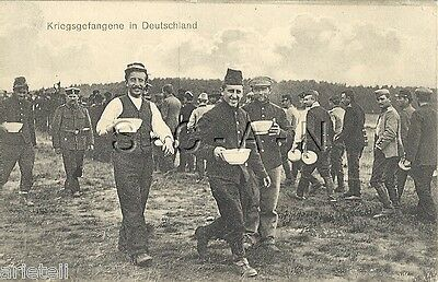 WWI German Photo Image PC- French Soldiers- Prisoner of War- POWs in Germany