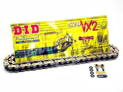 DID 520x120 Links VX2 Pro-Street Series Sealed X-ring Gold Chain