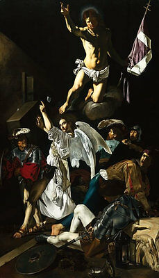 Resurrection by Caravaggio Giclee Fine Art Print Repro on Canvas