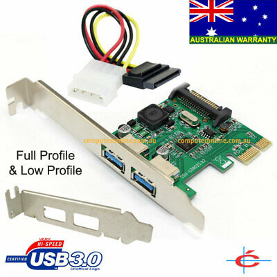 Low Profile & Full Profile USB 3.0 PCI-E 2 Pors Card, NEC Chipset, Self Powered