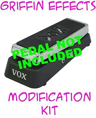 Vox V847A Wah True Bypass With LED Modification Kit - Griffin Effects - Bonus!