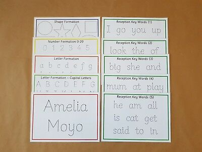 Reception Class Formation Pack -letters/numbers/shapes/key words/name card -EYFS