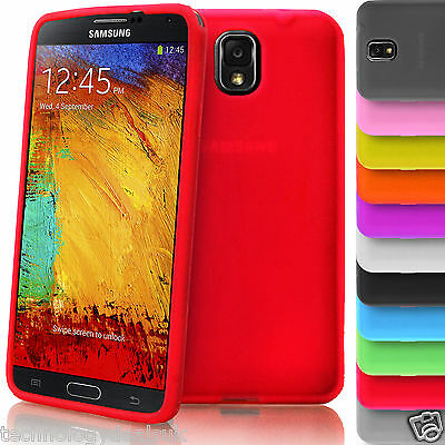 Soft Plain Silicone Case Gel Rubber Cover for Samsung Galaxy Note 3 N9005 Note 4