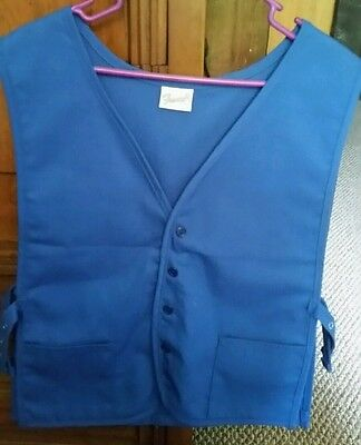 2 Pocket Apron Vest *BLUE* Made in USA
