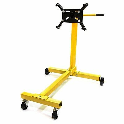 1000 Lb Mobile 4 Wheel Steel Engine Stand Dolly For Car Auto Motor Pedestal Rack