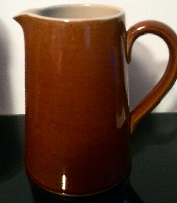 "Denby Stoneware Pottery Milk water jug Brown tall 5.5"" inches EC"