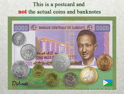 Banknote Postcard 2013 South Sudan Circulating Coins and Currency