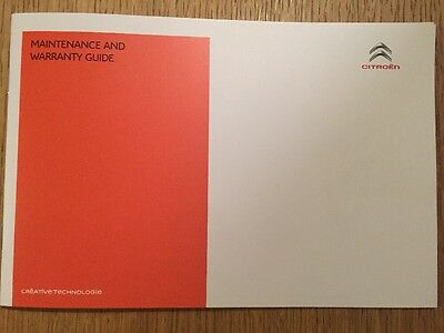 Citroen Service History & Maintenance Record Book Genuine New