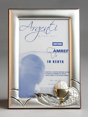 Sterling Silver First Holy Communion Photo Frame w/Gold Plated Chalice