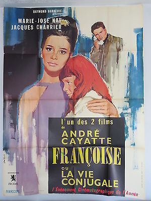 Old Large 1964 French Movie Poster La Vie Conjugale Andre Cayatte