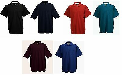 Louie James Cotton Rich PK Polo with chest pocket(BK41) in Size 2XL-8XL,6 Colors