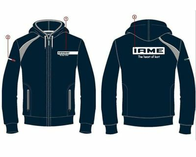 Iame Blue / Grey Racing Hoodie All Sizes UK KART STORE