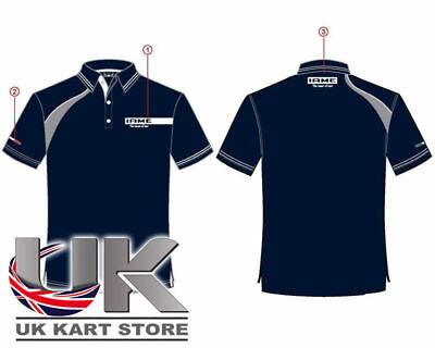 Iame Blue / Grey Racing Polo Shirt All Sizes UK KART STORE