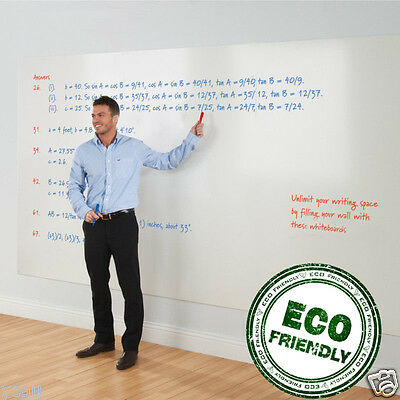 Super Large Soft  250 x 90 cm Whiteboard Sticker 4 Marker 1 Eraser