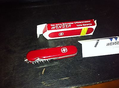 VINTAGE WENGER SWISS ARMY KNIFE IN ORIGINAL BOX WITH INSTRUCTIONS