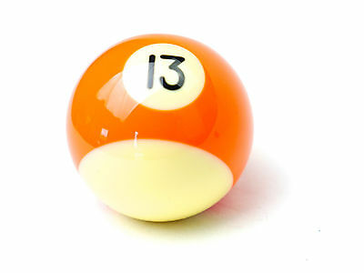 """Number 13 Two inch 2"""" Replacement Pool Snooker Billiards Kelly"""