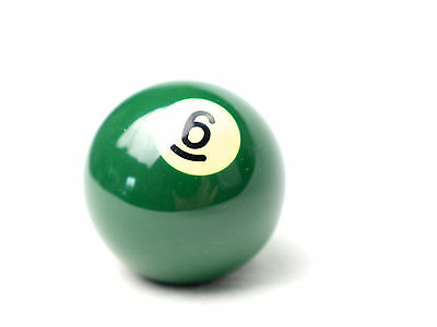 "Number 6 Kelly Ball - Two inch - 2"" - Replacement - Pool Snooker Billiards"