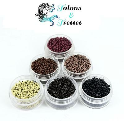 100/200/1000 Nano Rings for Nano Tip Pre-Bonded Human Hair Extensions -7 Colours