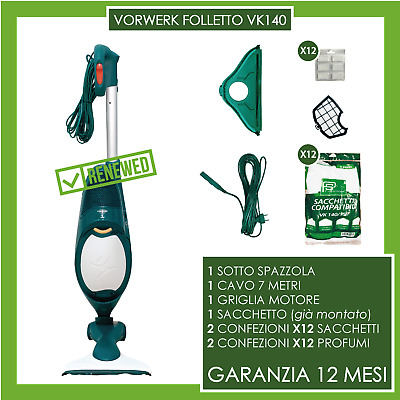 ASPIRAPOLVERE VORWERK FOLLETTO vk 140 HD40 TUBO+BOCCHETTE (NO 150 135 136 131