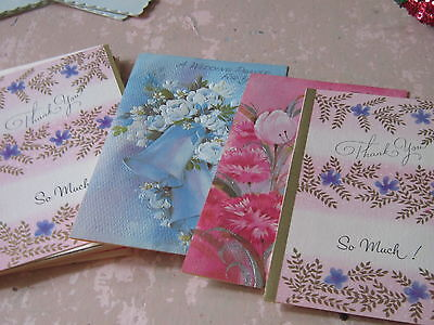 Lot of vintage assorted cards old stock 8 floral flower Friendship Thank you