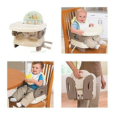 Baby Toddler Booster Chair Seat Table Eating Feeding Folding Portable Safety NEW
