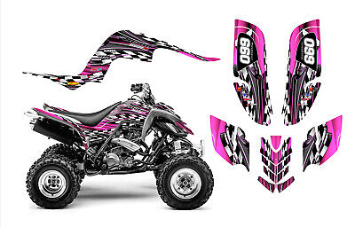 Raptor 660 graphics Yamaha 660R ATV custom sticker kit #2500 Hot Pink