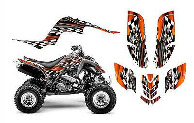 Yamaha RAPTOR 660 graphics decal kit thick 24 mil racing vinyl #2500 Orange
